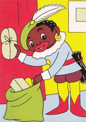 Zwarte Piet postcard ca. 1950.